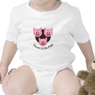 Tres pequeños cerdos trajes de bebé