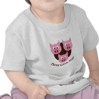Tres pequeños cerdos camisetas