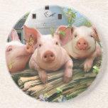 Tres pequeños cerdos posavasos manualidades