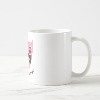 Tres pequeños cerdos taza básica blanca