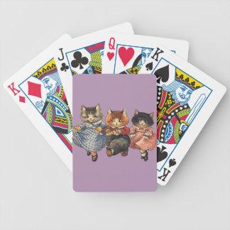 Tres pequeños gatitos baraja de cartas
