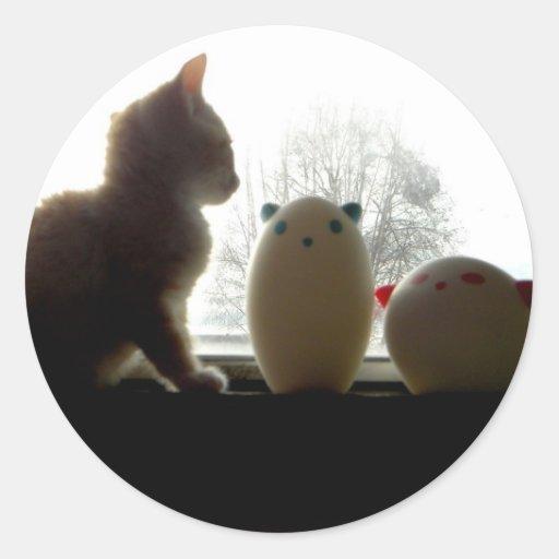 Tres pequeños gatitos I Pegatina