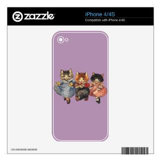 Tres pequeños gatitos iPhone 4S skin