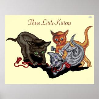 Tres pequeños gatitos posters