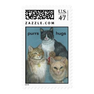 Tres pequeños gatitos sellos postales