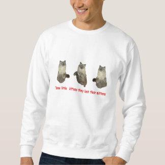 Tres pequeños gatitos sudadera