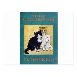 Tres pequeños gatitos tarjeta postal