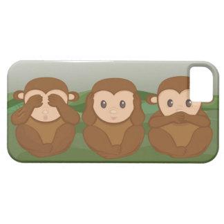 Tres pequeños monos iPhone 5 fundas