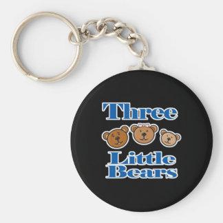 tres pequeños osos llavero redondo tipo pin