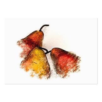 Tres peras plantillas de tarjetas de visita