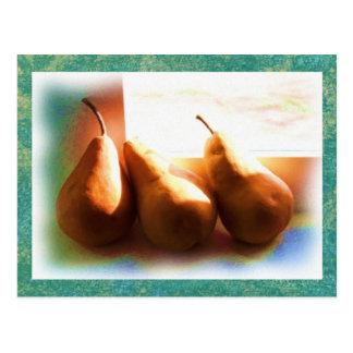 Tres peras postal