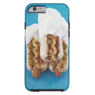Tres perritos calientes en bollos funda de iPhone 6 tough