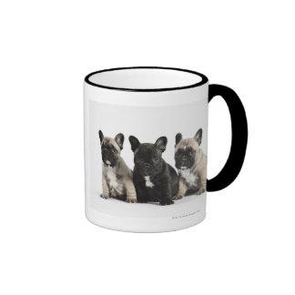 Tres perritos pedigríes taza a dos colores