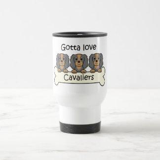 Tres perros de aguas de rey Charles arrogantes Tazas De Café