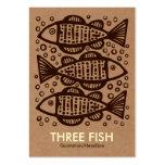 Tres pescados - caja de cartón Tex Tarjetas De Visita Grandes