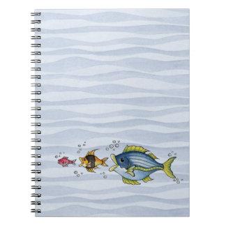 Tres pescados - cuaderno