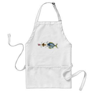Tres pescados - delantal