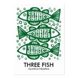 Tres pescados - Forest Green Tarjetas De Visita Grandes