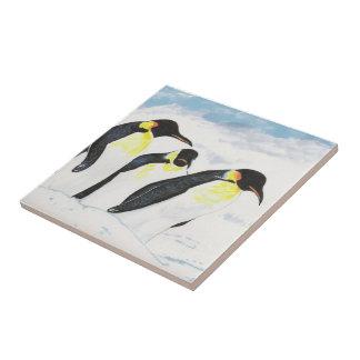 Tres pingüinos tejas