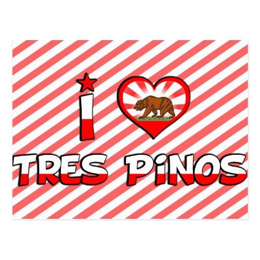 Tres Pinos, CA Tarjeta Postal
