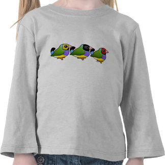 Tres pinzones de Gouldian Camiseta
