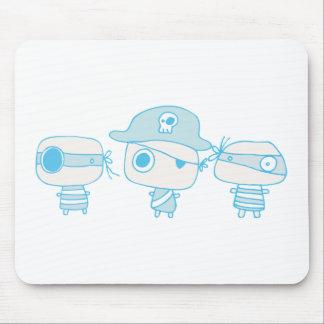 Tres piratas blueprinted alfombrillas de raton