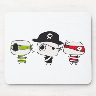 Tres piratas tapete de ratones