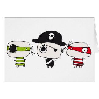 Tres piratas tarjeton