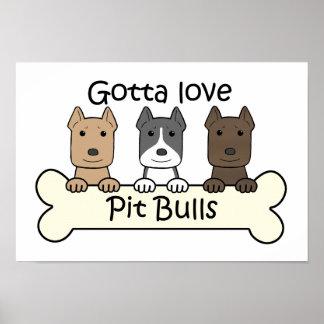 Tres Pitbulls Póster