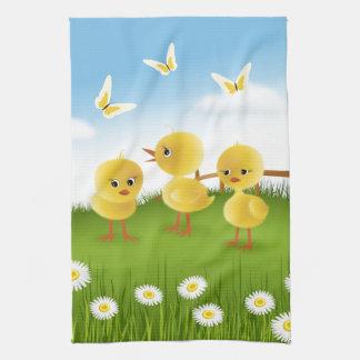 Tres pollos toallas