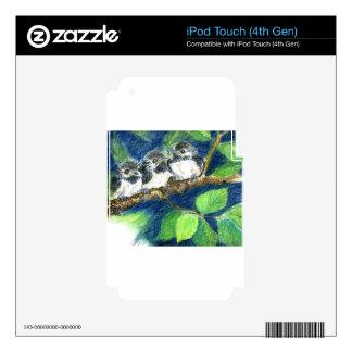 Tres Polluelo-uno-Dees - lápiz de la acuarela Calcomanía Para iPod Touch 4G