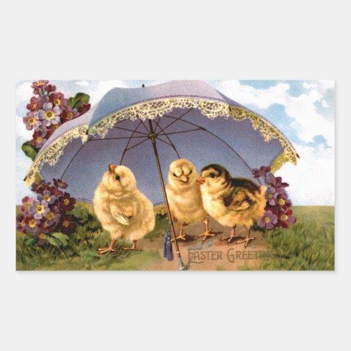 Tres polluelos encantadores de Pascua Rectangular Altavoces