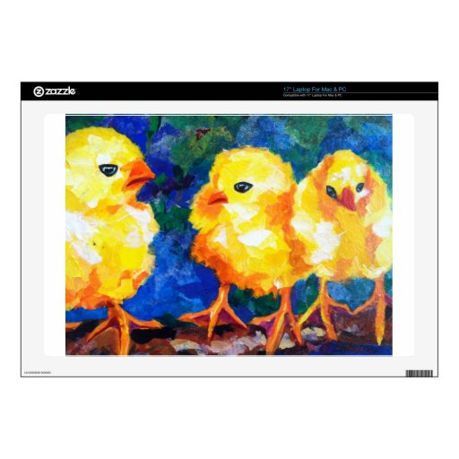 Tres polluelos profundamente en la conversación skins para 43,2cm portátiles