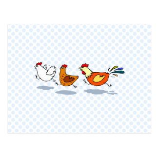 Tres polluelos postal