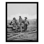 Tres presos confederados en Gettysburg 1863 Impresiones