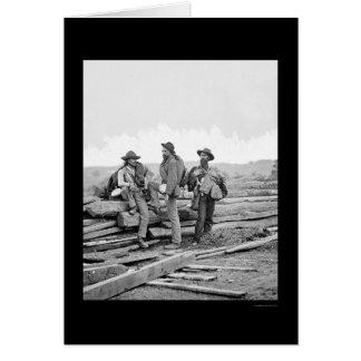 Tres presos confederados en Gettysburg 1863 Tarjeta De Felicitación