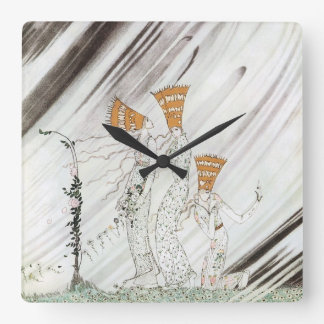 Tres princesas en montaña azul de Kay Nielsen Reloj Cuadrado