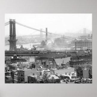 Tres puentes de NYC: 1900s tempranos Posters
