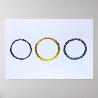 Tres pulseras, de Mathay-Mandeure Posters
