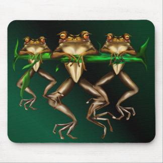 Tres ranas Mousepad Alfombrilla De Ratón