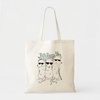 tres ratones ciegos bolsa tela barata