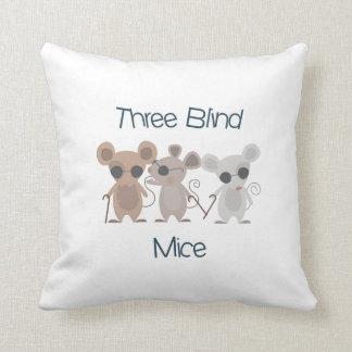 Tres ratones ciegos cojín