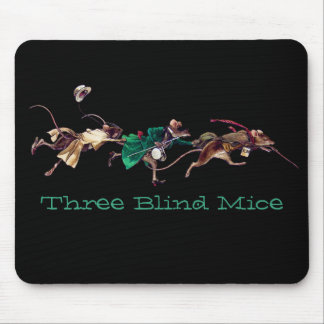 Tres ratones ciegos alfombrilla de ratones