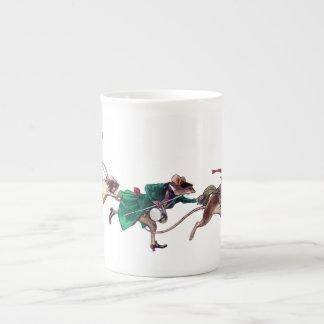 Tres ratones ciegos taza de porcelana