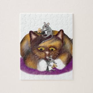 Tres ratones felices y su amigo del calicó rompecabeza