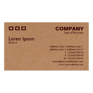 Tres rectángulos - textura de la caja de cartón tarjetas de visita
