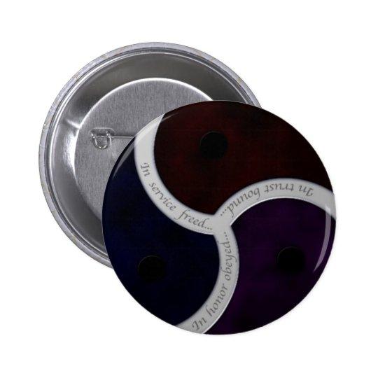 Tres refranes Triskele Pin Redondo De 2 Pulgadas