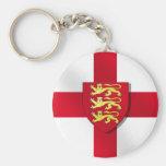 Tres regalos de la bandera del St. Geroge de los l Llavero Redondo Tipo Pin