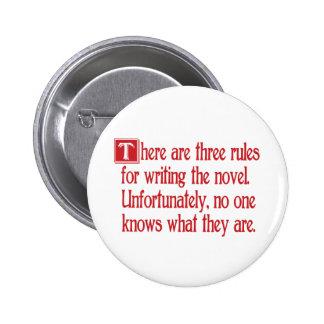 Tres reglas pin redondo de 2 pulgadas