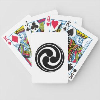 Tres remolinos largo-atados baraja cartas de poker